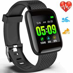 SMART WATCH With Blood Pressure Heart Rate Monitor Fitness Tracker For Men Women IP67 Waterproof Activity Tracker Step Calorie Counter 1.3 Inch Color Screen