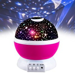 DIMY Girls Toys Age 2-10 Night Light Moon Star Rotating Projector For Kids Babies Toys For 3-10 Year Old Girls 2-10 Year Old Gir