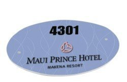 Custom Made To Order Oval Door Sign - Free Personalization UN5546