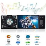 Single Din In Dash Car Stereo With Bluetooth Car Radio 4.1 Inch Car Audio Stereo For Cars With Rear View Camera Car Stereo Recei