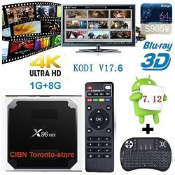 Smart TV BOX Lcbox Toronto-store X96 MINI Android Tv Box With 1GB RAM 8GB  Rom Amlogic Quad Core A53 Processor 64 Bits Real 4K Playing Free MINI
