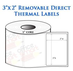 OfficeSmartLabels 3X2 Direct Thermal Removable Labels For Zebra GC420D  GC420T GK420D GK420T GX420D GX420T LP2844 LP2442 TLP2844 | R960 00 | Office