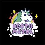 Death Metal Unicorn Hoodie Black