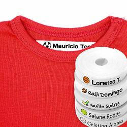 100 Personalised Iron-on White Fabric Labels To Mark Your Clothes With Colorful Icons. Gentle With Your Kids Skin For Children's School Uniform. Sports Icons