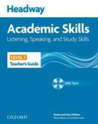 Headway Academic Skills: 1: Listening Speaking And Study Skills Teacher's Guide With Tests Cd-rom paperback