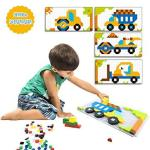Pickwoo 200+ Pieces Tetris Puzzles For Toddler Age 4 5 6 Pattern Blocks Set Early Educational Toys Creative Mosaic Jigsaw Puzzle
