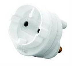 LESCO Continental Schuko Outlet ADAPTOR-1 X Schuko 5A Outlet Flame-retardant Material Material: Polycarbonate Colour White Sold