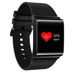 Smart Fitness Tracker Jiameiyi X9 Blood Pressure Oxygen Monitor Hear Real-time Heart Rate Monitor IP67 Waterproof Color Display For Ios And Android Black