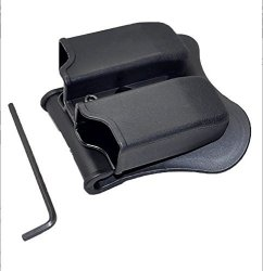 Cytac Double Magazine Pouch Paddle Design Fits Glock 17 19 22 23 26 27 31 32 33 34 35 37 38 39