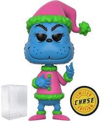 Funko Books: Dr. Seuss - Blue Santa Grinch Limited Edition Chase Pop Vinyl Figure Includes Compatible Pop Box Protector Case