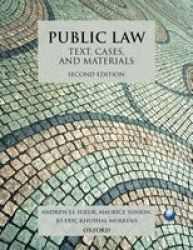 Public Law: Text Cases And Materials Paperback 2ND Revised Edition