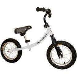 LITTLE BAMBINO Balance Bike With Adjustable Seat - White