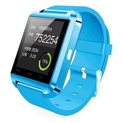 Colofan Smartwatch Luxury U8 Bluetooth Smart Watch Wristwatch Phone With Camera Touch Screen For Ios Iphone Android Smartphone Samsung Smartphone Sky Blue