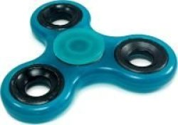 Tuff-Luv Night Glow Fidget Spinner- Blue