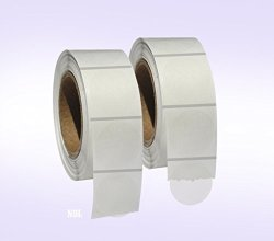 """Next Day Labels 2 000 Clear Retail Package Seals 1"""" Inch Round Circle Wafer Stickers labels 1 000 Per Roll - 2 Rolls Per Pack - Total 2000 Labels Per Pack"""
