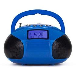 August SE20 - MINI Bluetooth MP3 Stereo System - Portable Radio With Powerful Bluetooth Speaker- Fm Alarm Clock Radio With Card Reader USB And