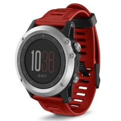 Silicone Replacement Band For Garmin Fenix 3 Watch - Red