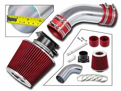 Rtunes Racing Short RAM Air Intake Kit + Filter Combo Red For 96-00 Audi A4 A6 2.8L V6