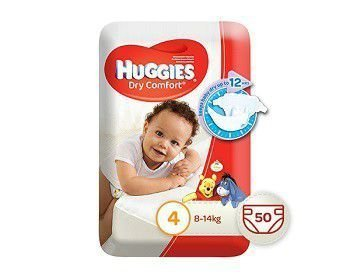 Huggies Dry Comfort 50 Nappies Size 4 Maxi Pack