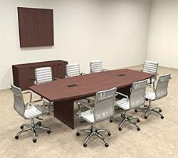 Modern Boat Shaped 10' Feet Conference Table OF-CON-C57