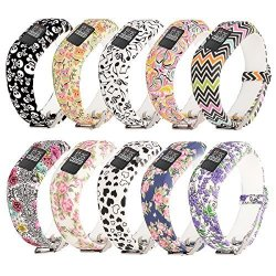 For Garmin Vivofit JR.2 Bands Printing Patterns Style Ruentech Replacement Soft Silicone Adjustable Wristbands Strap Vivofit Jr 2 VIVOFIT Jr Kid's Band