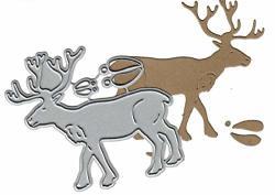 Dies To Die For Metal Craft Cutting Die - Reindeer caribou - Christmas Fun