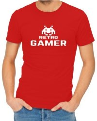 Retro Gamer Mens Red T-Shirt Xxx-large