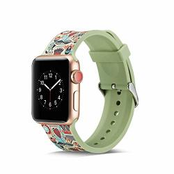 Sodoop For Apple Watch Band 38MM 40MM Soft Silicone Sport Waterproof Replacement Wristbands Strap Bracelet Compatible For Apple Iwatch Series 4 3 2 1 Smartwatch