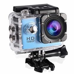 Fosa Action Camera Waterproof Outdoor Sports Cam With Waterproof Housing Case Cycling Sports MINI Dv Camcorder Build In Rechargeable Batteries With Mounting Accessories Kits