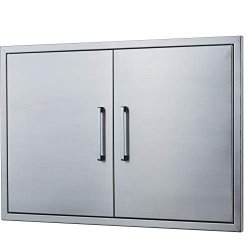 Outdoor Kitchen Doors Stainless Steel 30 Double Access Door Flush Mount For And Bbq Island