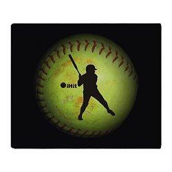 "Cafepress Ihit Fastpitch Softball Right Handed Throw Blank Soft Fleece Throw Blanket 50""X60"" Stadium Blanket"