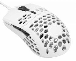 Cooler Master Mm 710 Matte White Ultra Light 53G Gaming Mouse Ultraweave Paracord Cable Pixart PMW3389 Sensor Ptfe Skates