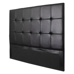 Fine Living - Burkley Headboard King - Black Pu