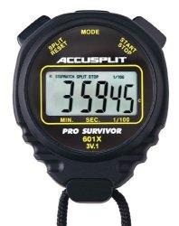 Accusplit Pro Survivor - A601XBK Stopwatch Clock Extra Large Display Black