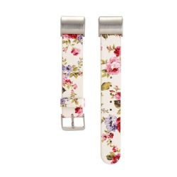 Floral Band For Fitbit Charge 2 - White & Pink