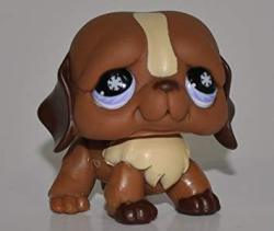 St. Bernard 688 Pink purple Eyes Snowflakes In Eyes - Littlest Pet Shop Retired Collector Toy - Lps Collectible Replacement Single Figure - Loos