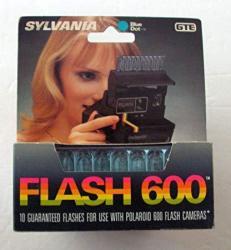 "GTE Products Corporation Sylvania Blue Dot Flashbar ""flash 600"" Gte 10 Flashes For Polaroid 600 Cameras"