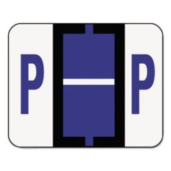 SMEAD MANUFACTURING CO. Smead Products - Smead - A-z Color-coded Bar-style End Tab Labels Letter P Violet 500 ROLL - Sold As 1 Roll - Tab Products Compatible
