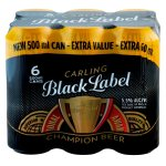 Carling - Black Label 500ML Can 6 Pack