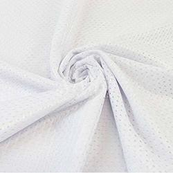 """Pico Textiles White Football Mesh Jersey Fabric - 60"""" Wide - Style 734701"""