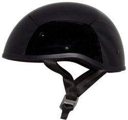 ZOX Retro Old School Open Face Helmet Glossy Black Medium