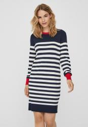 Vero Moda Lacole Long Sleeve Stripe Balloon Dress - Navy
