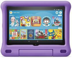 """Amazon 2020 10TH Gen Fire HD 8 Kids Edition Tablet 8"""" HD 32 Gb Purple Kid-proof Case"""