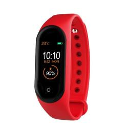 M4 0.96 Inch Tft Color Screen Smartwatch IP67 Waterproof Support Call Reminder heart Rate Monitoring blood Pressure Monitoring sleep Monitoring sedentary Reminder Red