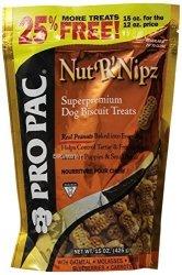 Pro Pac Nut'r'nipz Dog Treats 15-OUNCE Bag By Propac
