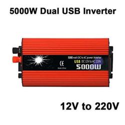 Leaftree - 5000W Car Power Inverter Dc 12V To 220V Ac Converter Adapter With Dual USB For Mobile Phone Laptop Home Appliances
