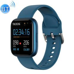 P6 1.4 Inch Full Circle Full Touch Silicone Strap Smart Sport Watch IP67 Waterproof Support Real-time Heart Rate Monitoring Sleep Monitoring Bluetooth Alarm Clock Blue