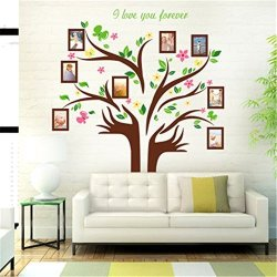 Large Family Tree Wall Decal Waterproof