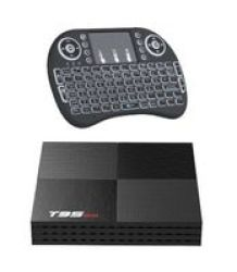 6K Android 9.0 2+16 T95MINI H6 Allwinner Tv Box & Backlit Keyboard