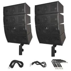 Proreck Club A 4X4 Passive Line Array Speaker System Sets With Connecting Cables Eight Tweeter And Eight Mid-tweeters 8 Ohms Imp